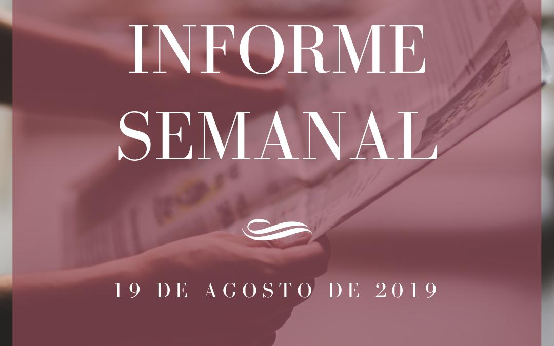 Informe semanal 19-08-2019