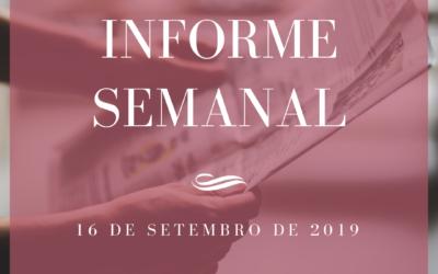 Informe semanal 16-09-2019