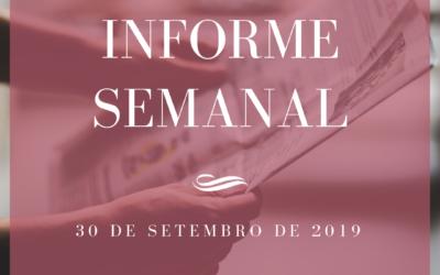 Informe Semanal 30-09-2019